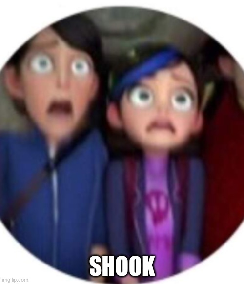 Shook |  SHOOK | image tagged in troll,claire,memes,shook | made w/ Imgflip meme maker
