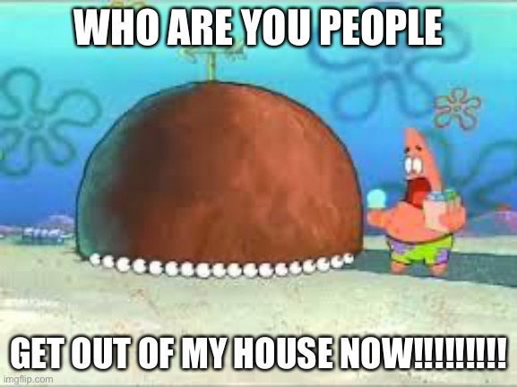 WHO ARE YOU PEOPLE? |  WHO ARE YOU PEOPLE; GET OUT OF MY HOUSE NOW!!!!!!!!! | image tagged in who are you people | made w/ Imgflip meme maker