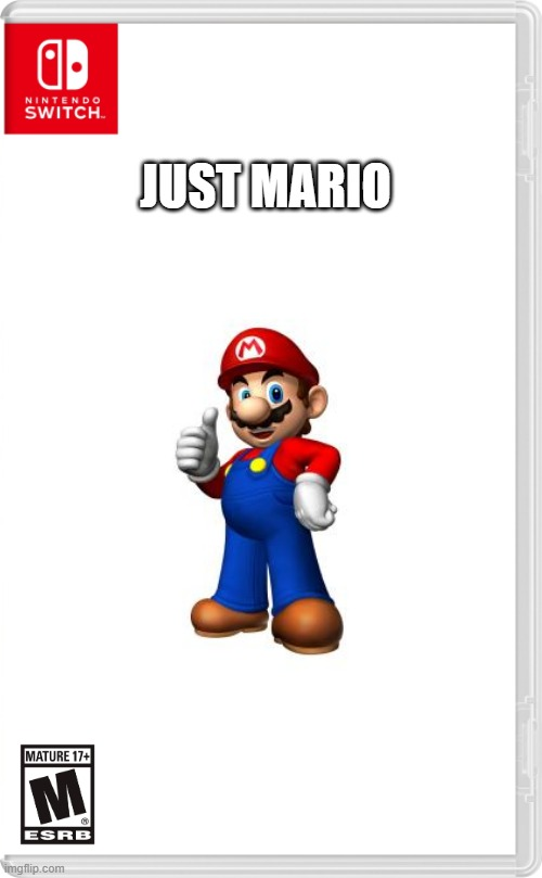 Nintendo released its new Mario game! Its called... |  JUST MARIO | image tagged in nintendo switch cartridge case | made w/ Imgflip meme maker