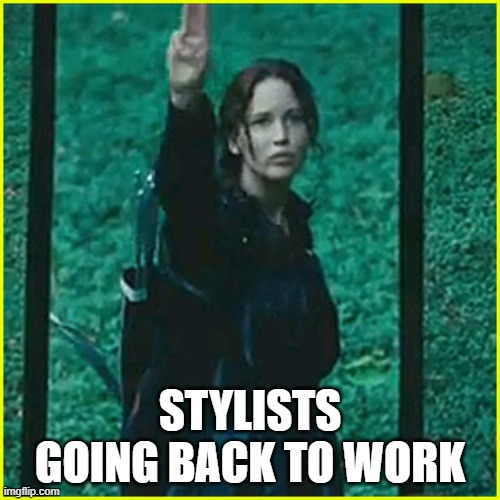 Stylists Tribute |  STYLISTS GOING BACK TO WORK | image tagged in memes,funny memes,hair,haircut,work,coronavirus meme | made w/ Imgflip meme maker