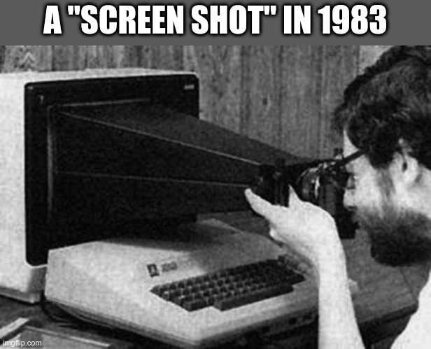 "Awesome!! |  A ""SCREEN SHOT"" IN 1983 