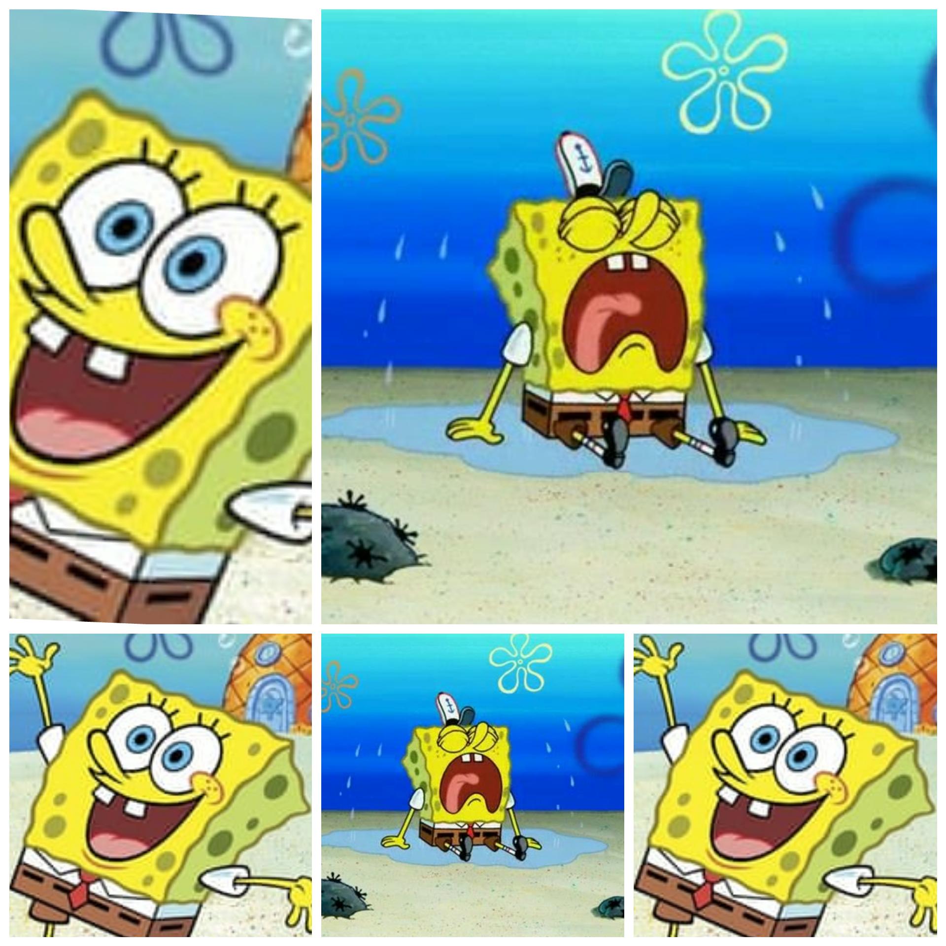 SpongeBob happy sad Blank Template - Imgflip