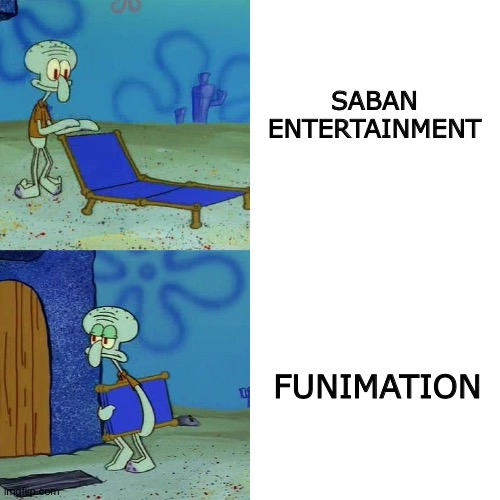 Squidward chair |  SABAN ENTERTAINMENT; FUNIMATION | image tagged in squidward chair | made w/ Imgflip meme maker