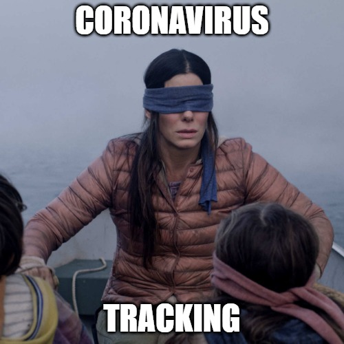 Bird Box |  CORONAVIRUS; TRACKING | image tagged in memes,bird box | made w/ Imgflip meme maker