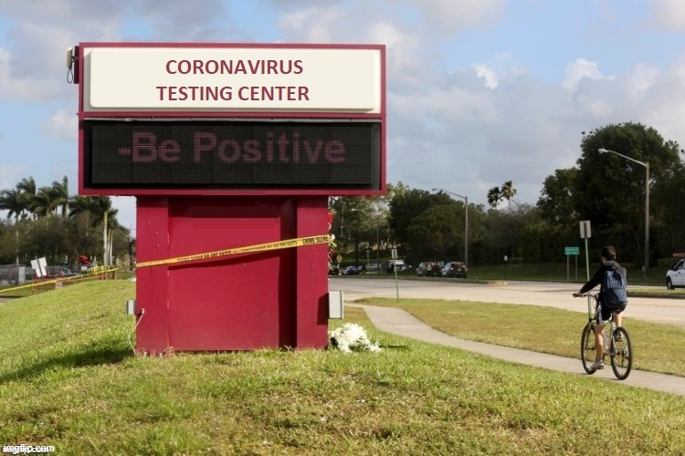Coronavirus Testing Center | image tagged in coronavirus,quarantine,stay positive,covid19 | made w/ Imgflip meme maker