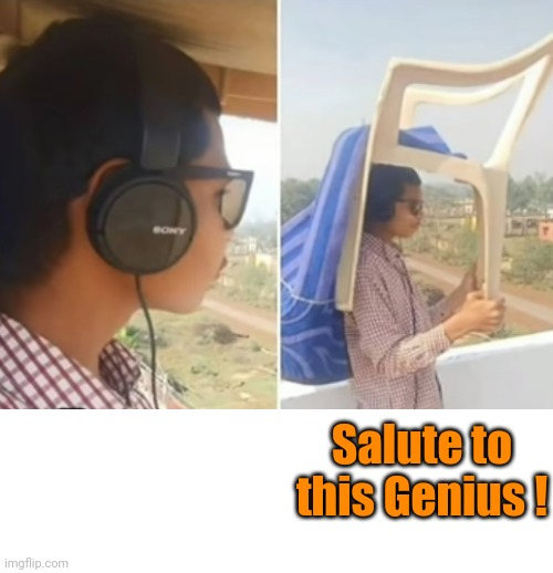 Salute to this Genius ! | image tagged in photography | made w/ Imgflip meme maker