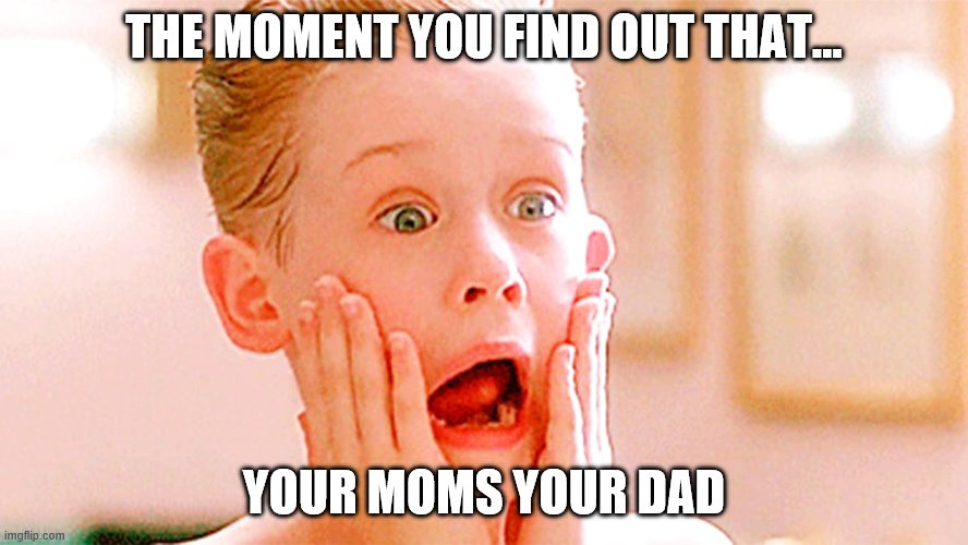 THE MOMENT YOU FIND OUT THAT... YOUR MOMS YOUR DAD | image tagged in legos | made w/ Imgflip meme maker