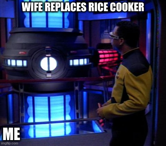 Wives + Time = Amazon |  WIFE REPLACES RICE COOKER; ME | image tagged in insta pot,purchases,confused | made w/ Imgflip meme maker
