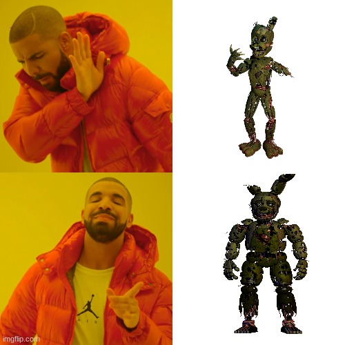 Drake Hotline Bling | image tagged in drake hotline bling,fnaf,gaming | made w/ Imgflip meme maker