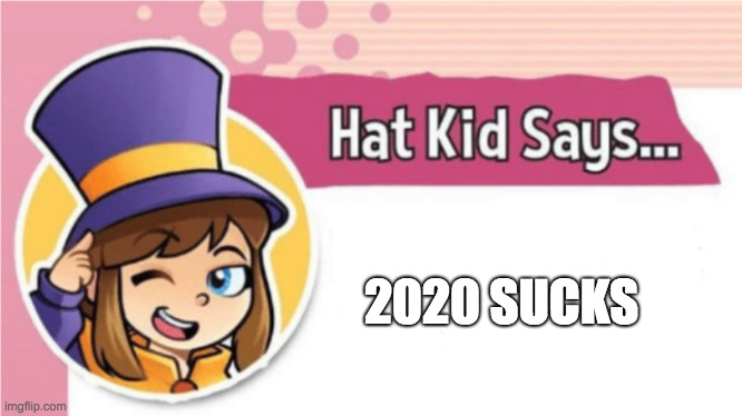 Hat Kid Says... | 2020 SUCKS | image tagged in hat kid says | made w/ Imgflip meme maker