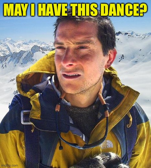 Bear Grylls Meme | MAY I HAVE THIS DANCE? | image tagged in memes,bear grylls | made w/ Imgflip meme maker