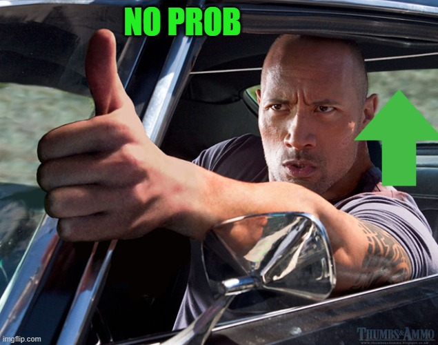 up thumb | NO PROB | image tagged in up thumb | made w/ Imgflip meme maker