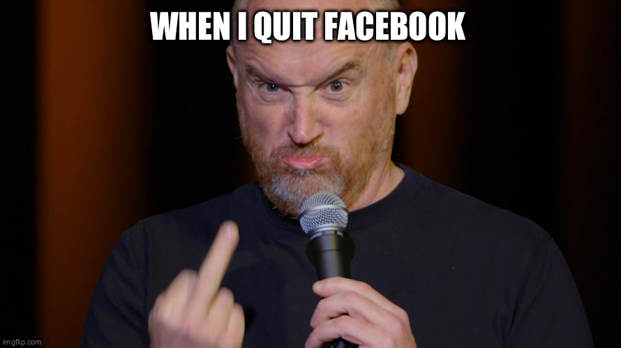 bye bye suckers! | WHEN I QUIT FACEBOOK | image tagged in you know,louis ck,facebook | made w/ Imgflip meme maker