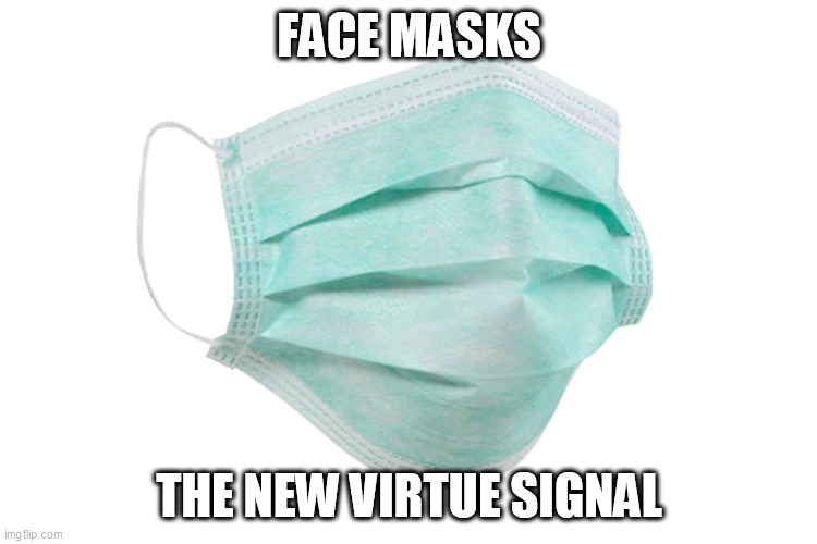 prove your virtue |  FACE MASKS; THE NEW VIRTUE SIGNAL | image tagged in face mask,virtue signalling,false flag,hoax,made in china | made w/ Imgflip meme maker