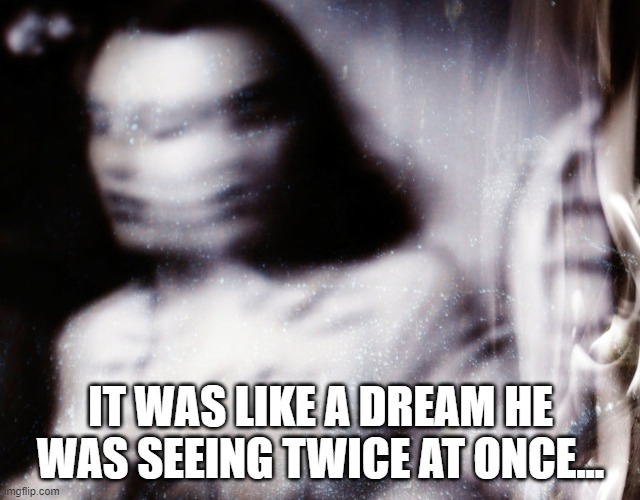 IT WAS LIKE A DREAM HE WAS SEEING TWICE AT ONCE...   made w/ Imgflip meme maker