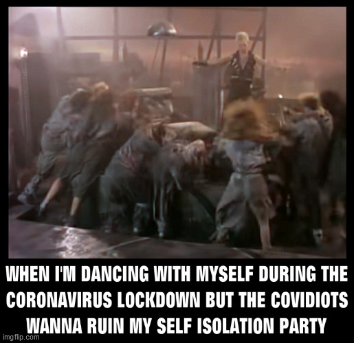 image tagged in billy idol,lockdown,coronavirus,covidiots,punk rock,80s music | made w/ Imgflip meme maker