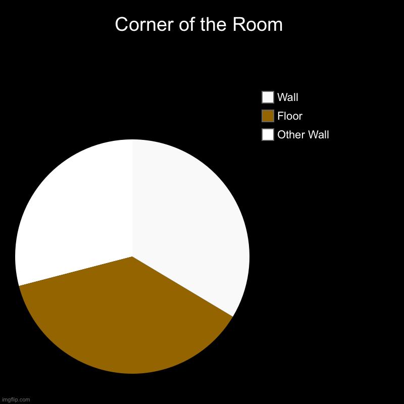 Perfect! | Corner of the Room | Other Wall, Floor, Wall | image tagged in charts,pie charts,memes,funny memes,trump,boardroom meeting suggestion | made w/ Imgflip chart maker