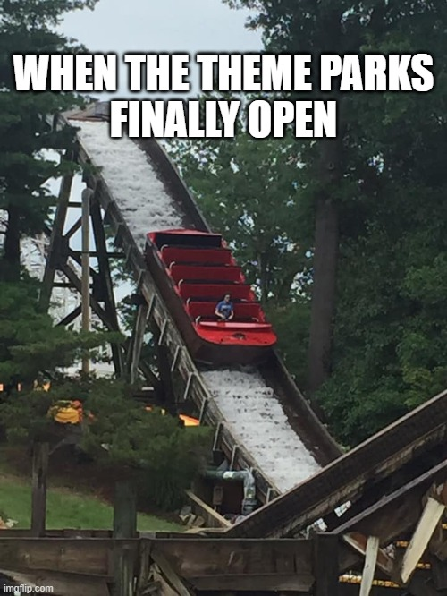Coronavirus Ride |  WHEN THE THEME PARKS FINALLY OPEN | image tagged in coronavirus,ride,alone | made w/ Imgflip meme maker