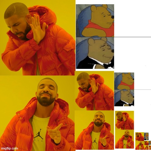 But they are basically the same template | image tagged in memes,drake hotline bling,infinity | made w/ Imgflip meme maker