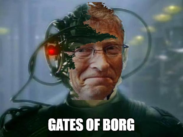 Gates Of Borg |  GATES OF BORG | image tagged in bill gates,the borg,vaccines,drone,star trek,the hive | made w/ Imgflip meme maker