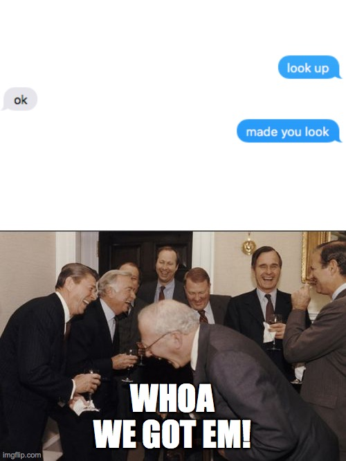 Laughing Men In Suits |  WHOA WE GOT EM! | image tagged in memes,laughing men in suits | made w/ Imgflip meme maker