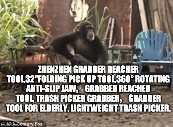 "zhenzhen Grabber Reacher Tool,32""Folding Pick up Tool,360° Rotating Anti-Slip Jaw,Grabber Reacher Tool, Trash Picker Grabber,Gra 