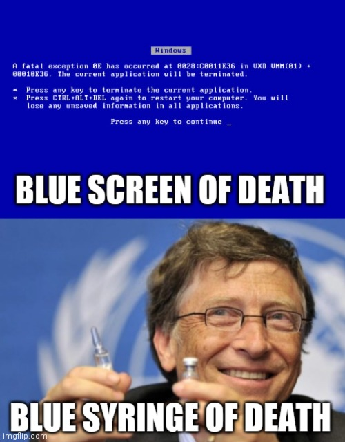 BSOD now and then | image tagged in microsoft,covid-19,vaccine,windows,corona virus,bill gates | made w/ Imgflip meme maker