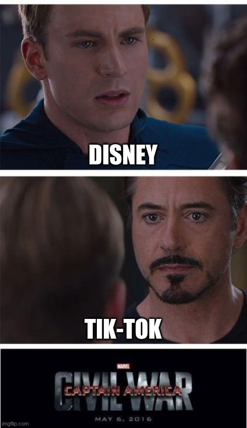 Not gonna lie, this is based on something I saw in the news yesterday... |  DISNEY; TIK-TOK | image tagged in disney vs tik tok,disney is obviously better,comment down below which one u guys like better,its disney,btw,cause tik tok sucks | made w/ Imgflip meme maker