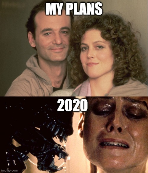 My Plans vs 2020 |  MY PLANS; 2020 | image tagged in aliens,making plans,plans,ghostbusters | made w/ Imgflip meme maker