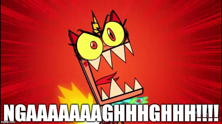 Angry Unikitty |  NGAAAAAAAGHHHGHHH!!!! | image tagged in angry unikitty | made w/ Imgflip meme maker