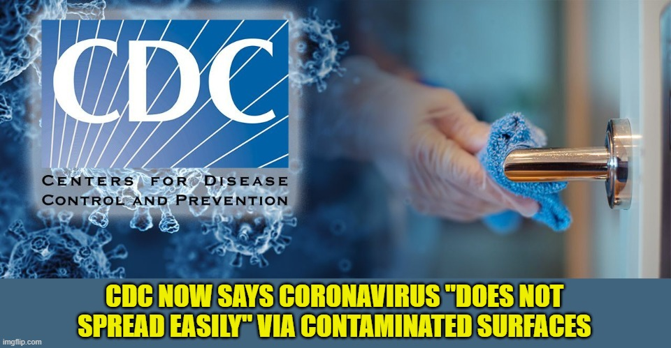 "Seriously?  So I Was Disinfecting My Groceries and Beer for Nothing?  So Many Wasted Wipes! |  CDC NOW SAYS CORONAVIRUS ""DOES NOT SPREAD EASILY"" VIA CONTAMINATED SURFACES 