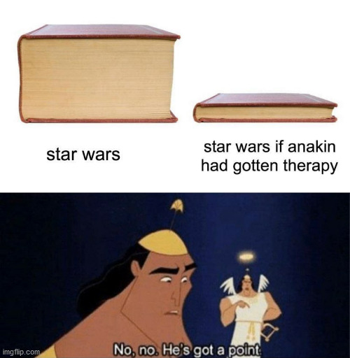 meme modified with meme | image tagged in no no he's got a point,star wars | made w/ Imgflip meme maker