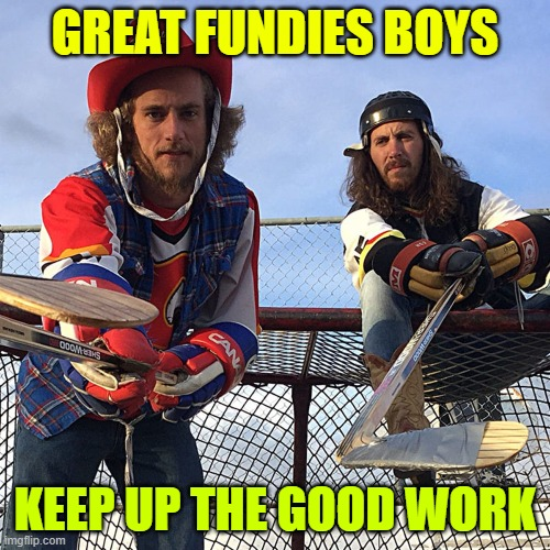 GREAT FUNDIES BOYS; KEEP UP THE GOOD WORK | image tagged in on the bench,fundies | made w/ Imgflip meme maker