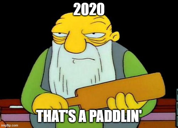 That's a paddlin' |  2020; THAT'S A PADDLIN' | image tagged in memes,that's a paddlin' | made w/ Imgflip meme maker
