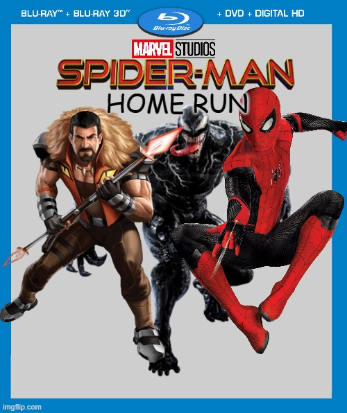 We don't actually know the title or the villains, but it is coming on 11-5-21 |  HOME RUN | image tagged in transparent dvd case,spider-man,marvel cinematic universe,venom,marvel | made w/ Imgflip meme maker