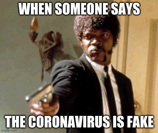 You lost!!! |  WHEN SOMEONE SAYS; THE CORONAVIRUS IS FAKE | image tagged in memes,say that again i dare you | made w/ Imgflip meme maker