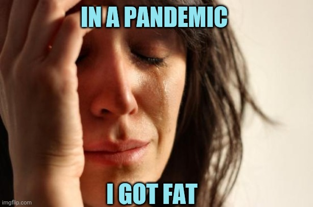 First World Problems |  IN A PANDEMIC; I GOT FAT | image tagged in memes,first world problems | made w/ Imgflip meme maker
