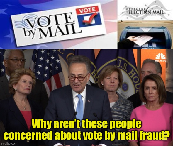 Maybe they expect Democrats will benefit more than Republicans |  Why aren't these people concerned about vote by mail fraud? | image tagged in democrat congressmen,vote by mail - non-partisan fraud resistant,voter fraud | made w/ Imgflip meme maker