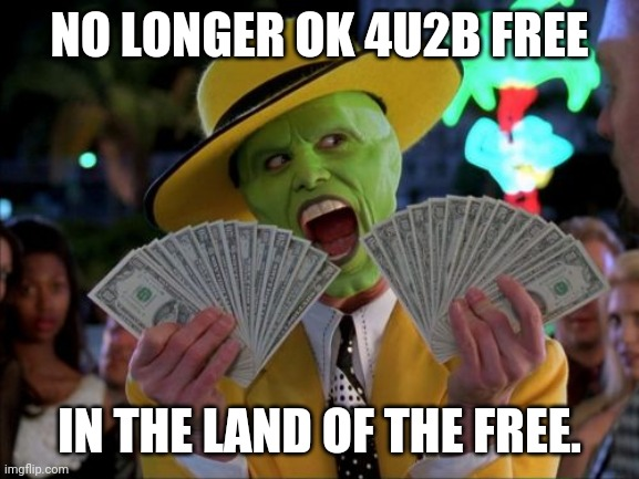 Maybe... It's only an Anagram. #CancelCovid |  NO LONGER OK 4U2B FREE; IN THE LAND OF THE FREE. | image tagged in money money,freedom in murica,covid 19,the mask,scam,the great awakening | made w/ Imgflip meme maker