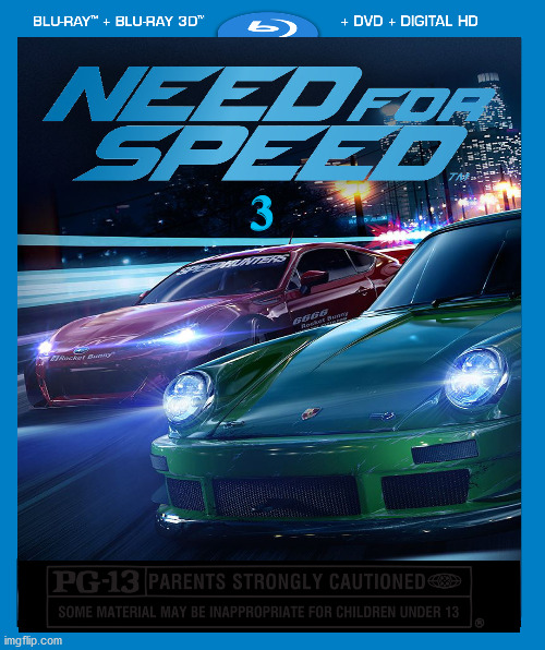 Need For Speed Three: The Ultimate Test |  3 | image tagged in need for speed,cars,action movies,memes | made w/ Imgflip meme maker