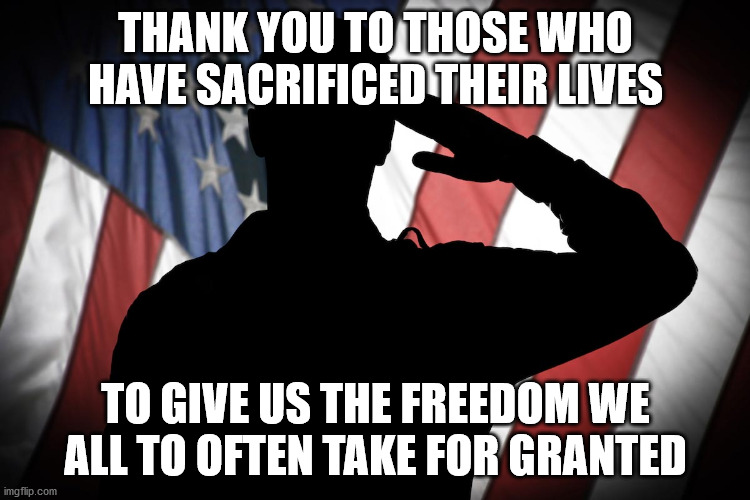 Thank you for paying the ultimate price |  THANK YOU TO THOSE WHO HAVE SACRIFICED THEIR LIVES; TO GIVE US THE FREEDOM WE ALL TO OFTEN TAKE FOR GRANTED | image tagged in thank you,memorial day | made w/ Imgflip meme maker