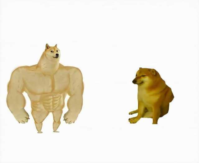 Strong dog vs weak dog Blank Template - Imgflip