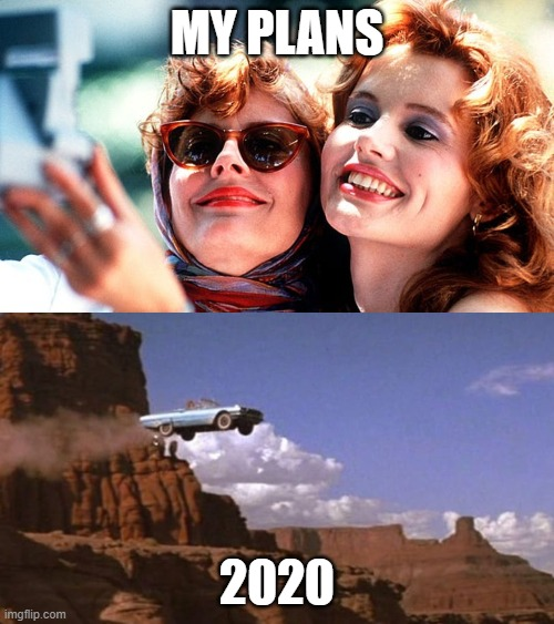 my plans vs. 2020 |  MY PLANS; 2020 | image tagged in thelma and louise,dark humor,2020 | made w/ Imgflip meme maker