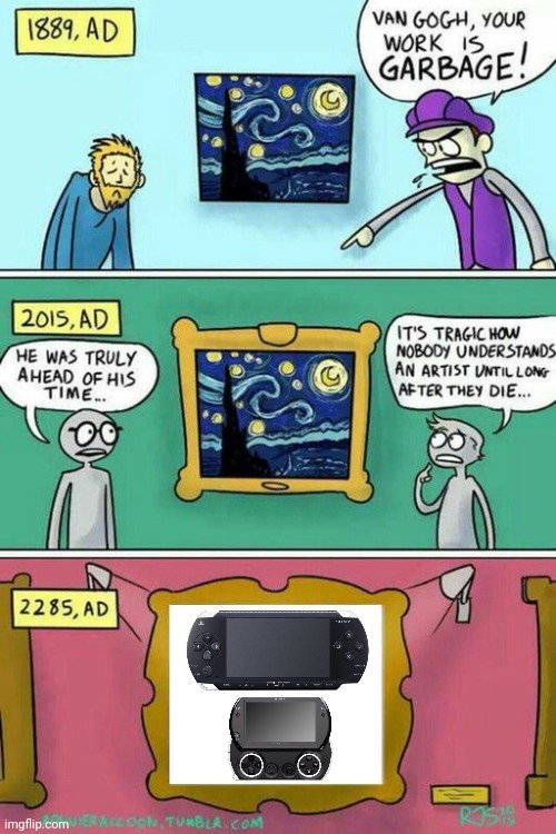 Sony PSP Art | image tagged in van gogh meme template,memes,playstation,sony,video games | made w/ Imgflip meme maker