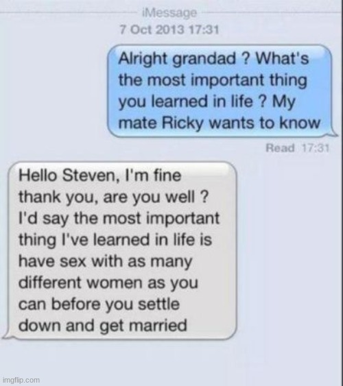 hold up | image tagged in funny,text messages,memes,ricky,grandpa | made w/ Imgflip meme maker