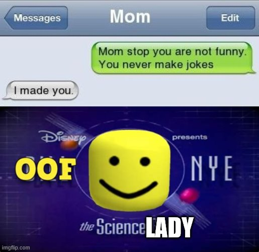 Oof is right. |  LADY | image tagged in social media,burns,oof | made w/ Imgflip meme maker