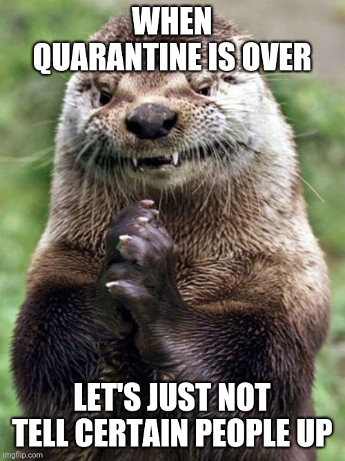 Quarantine |  WHEN QUARANTINE IS OVER; LET'S JUST NOT TELL CERTAIN PEOPLE UP | image tagged in quarantine | made w/ Imgflip meme maker