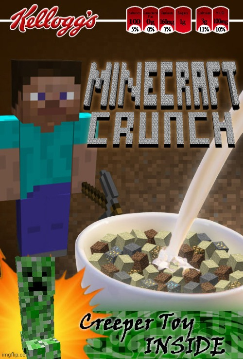 Minecart Crunch Cereal Imgflip