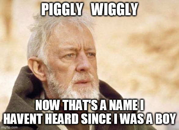 piggly wiggly |  PIGGLY   WIGGLY; NOW THAT'S A NAME I HAVENT HEARD SINCE I WAS A BOY | image tagged in now that's a name i haven't heard since | made w/ Imgflip meme maker