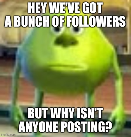 please |  HEY WE'VE GOT A BUNCH OF FOLLOWERS; BUT WHY ISN'T ANYONE POSTING? | made w/ Imgflip meme maker